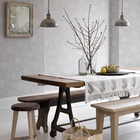 grey and white scandi style dining room country decorating ideas