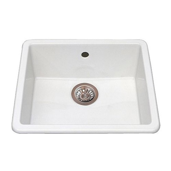 Domsjo ceramic white single bowl sink by ikea kitchen sinks housetohome c - Evier ikea ceramique ...