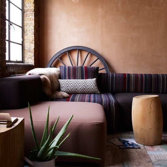 Navajo living room | Contemporary country decorating ideas | Livingetc | Housetohome