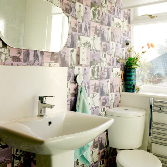 Wallpaper | Bathroom | PHOTO GALLERY | Style at Home | Housetohome.co.uk