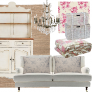 Shabby-chic living room