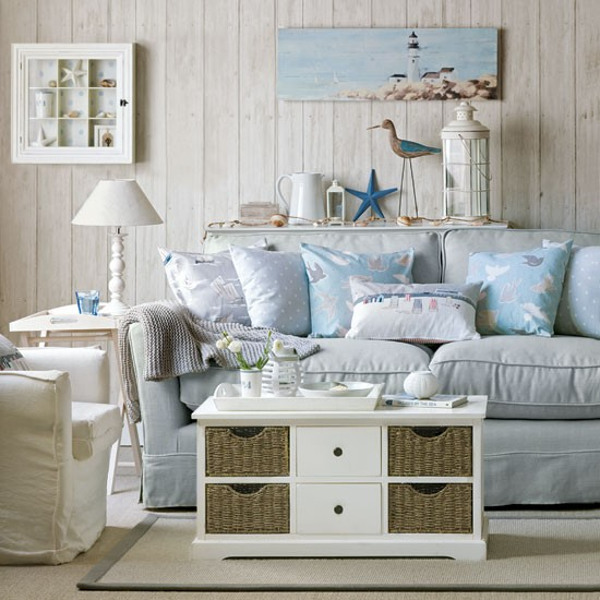 Sea-inspired living room | Coastal-style decorating ideas ...