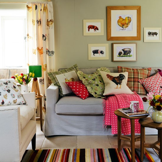 Choose animal-motif fabrics | Living room | PHOTO GALLERY | Country Homes and Interiors | Housetohome.co.uk