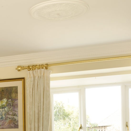 A ceiling rose will add gorgeous period charm to an older property