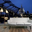 Millennium Bridge and St Paul's mural, £159, Wallpaperdirect