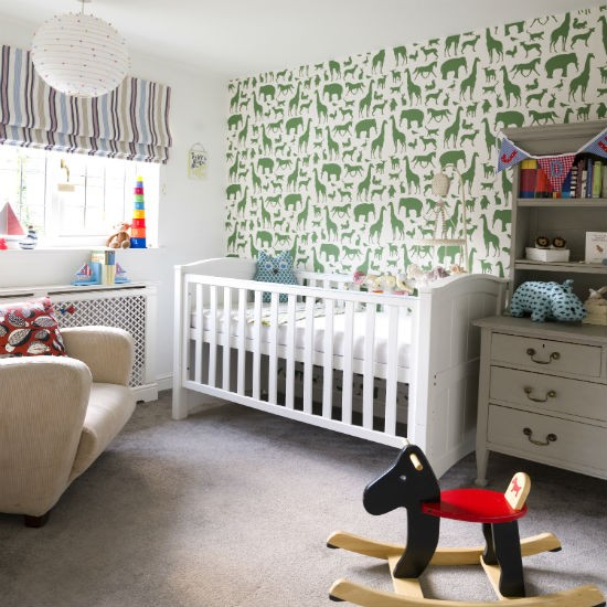add a feature wall nursery decorating ideas