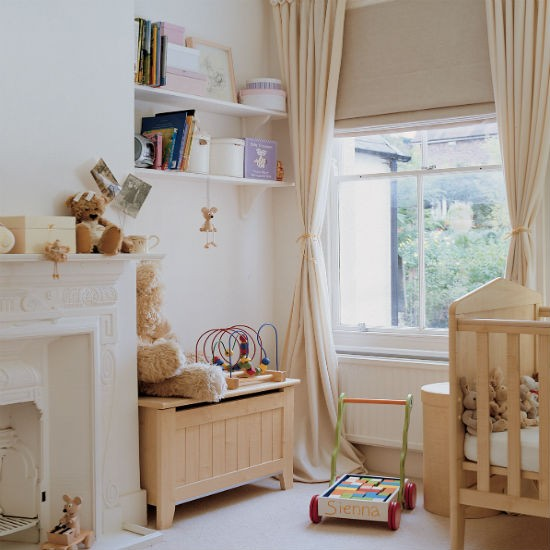 Play safe with neutrals nursery decorating ideas for Baby boy bedroom ideas uk