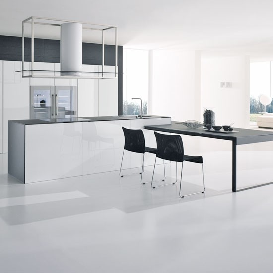 Contemporary white kitchen white kitchens housetohome co uk