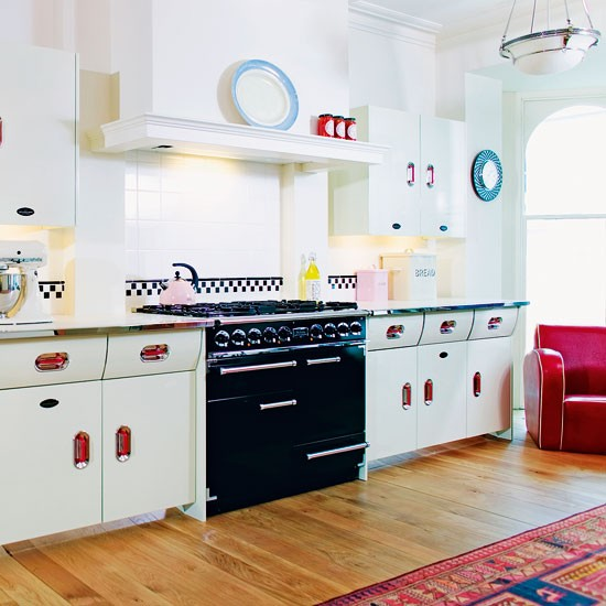 White country kitchen red accents white country kitchen