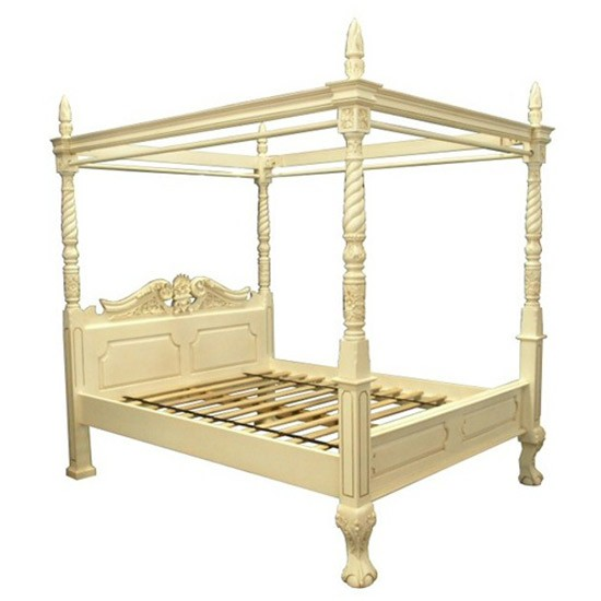 Queen anne style four poster bed by quality furnishings of for Queen anne style bed