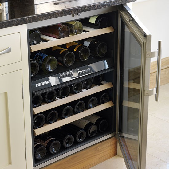 Wine cooler be inspired by a cream painted country - Kitchens with wine coolers ...