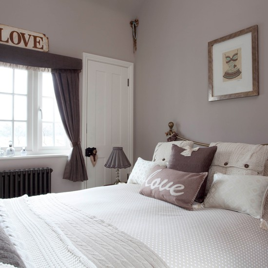 Tiny bedroom in mushroom grey | Small bedroom ideas | Bedroom | PHOTO GALLERY | 25 Beautiful Homes | Housetohome.co.uk