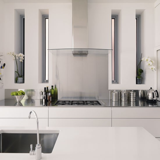 Extractor Hood Be Inspired By A White Minimalist Kitchen