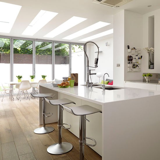 Minimalis Large Kitchen Islands With Seating Gallery White Kitchen With Large Island Unit Kitchen PHOTO GALLERY