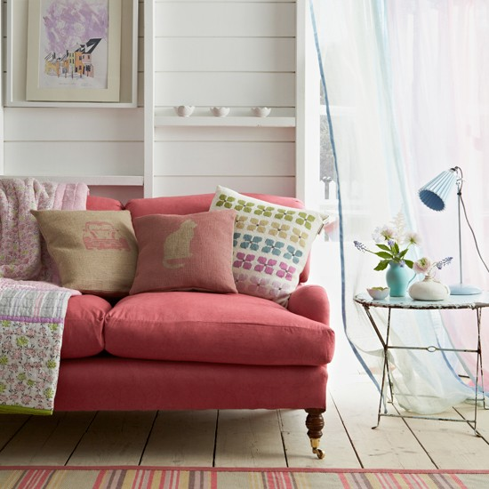 Pastel living room country decorating ideas for Living room ideas pastel