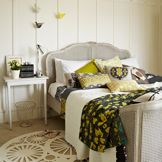 Citrus and grey bedroom | Country decorating ideas | Country Homes & Interiors | Housetohome