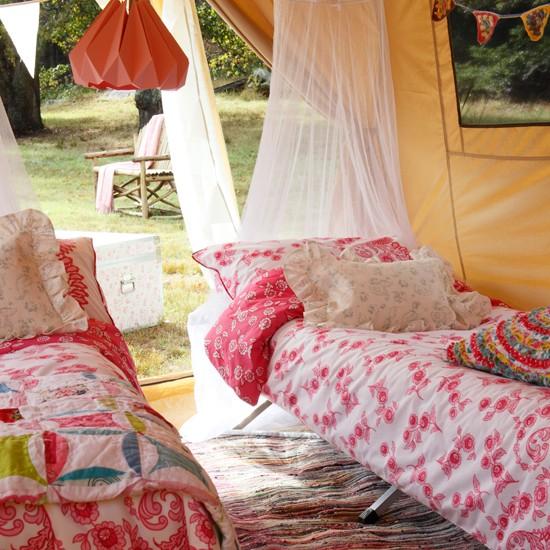 Floral garden camping area