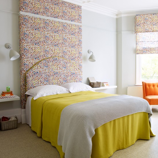 Colourful bedroom | Decorating with pattern | Homes & Gardens | Housetohome