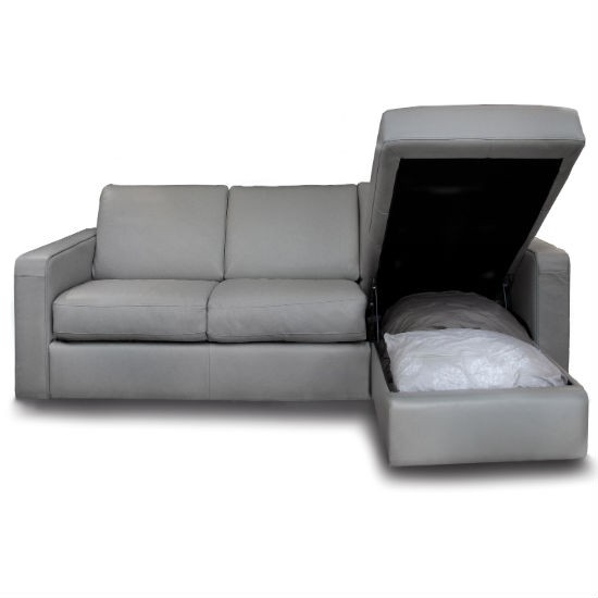Sofa bed with storage chaise from darlings of chelsea sofa beds