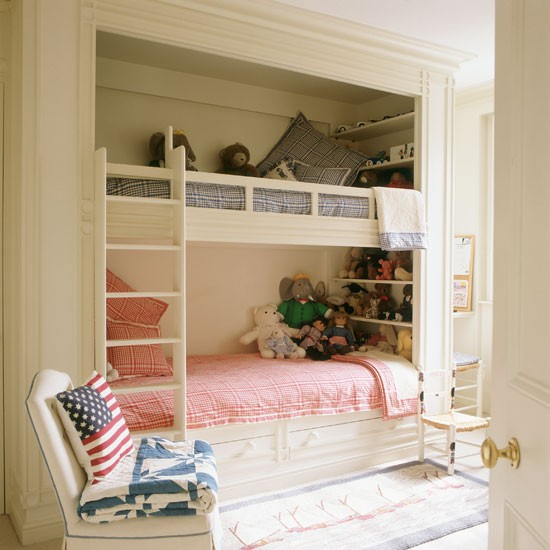 Cream bedroom furniture bedroom furniture high resolution for Bunk beds built into wall