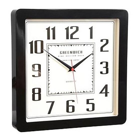 Black retro wall clock from debenhams wall clocks for Black retro wall clock