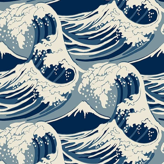 Waves on Pinterest | Japanese Waves, Wave Pattern and Stencils