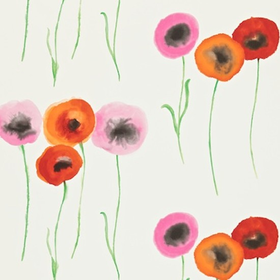 Poppies by Sanderson | Country wallpaper | Home decorating ideas | PHOTO GALLERY | housetohome