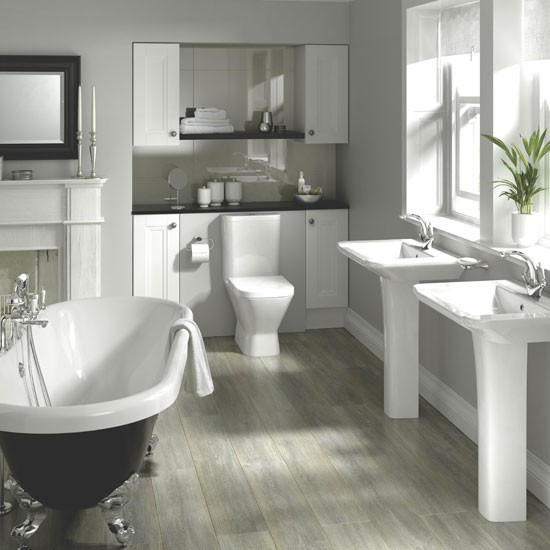 Mixing old and new bathroom decorating trends 2012 for New home bathroom trends