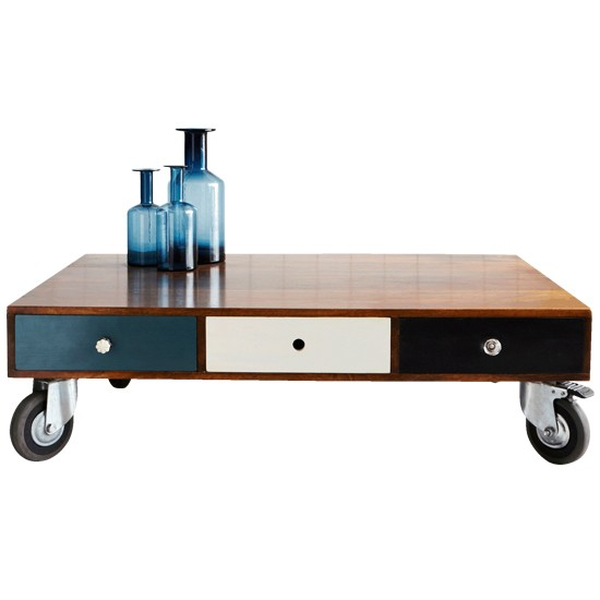 Wooden 3-drawer coffee table from Graham & Green | Coffee tables - 10 of the best | PHOTO GALLERY | Housetohome.co.uk
