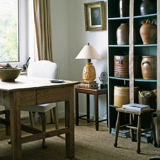 Rustic home office | Formal home office | Traditional home office | decorating ideas | PHOTO GALLERY | 25 Beautiful Homes | Housetohome