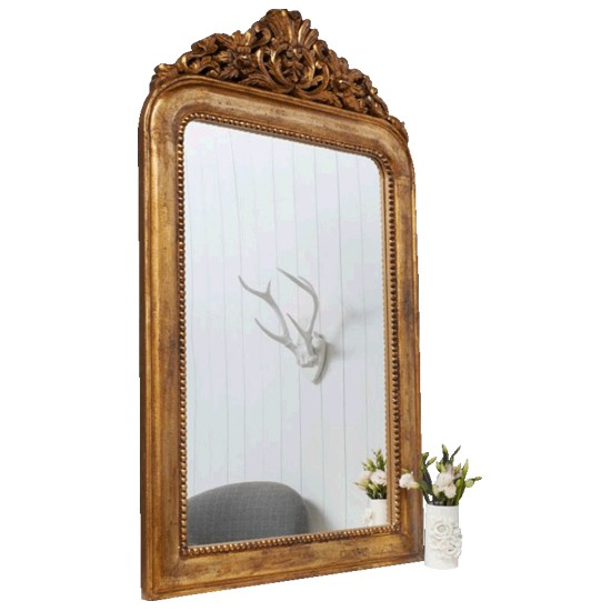 Mantle Mirror Gold Crown Over Mantle Mirror
