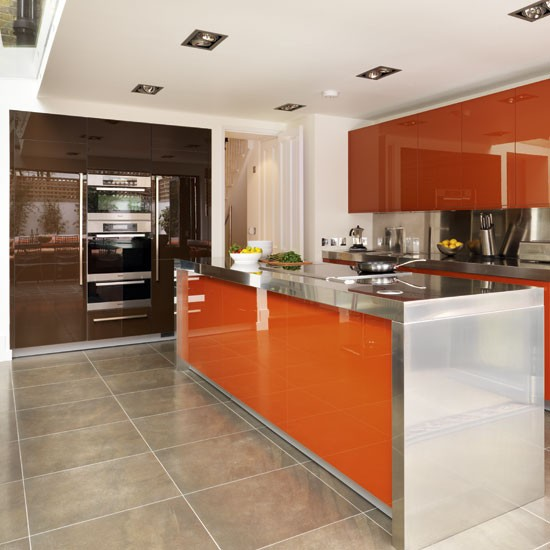 Be Inspired By A Bold Chocolate And Orange Kitchen