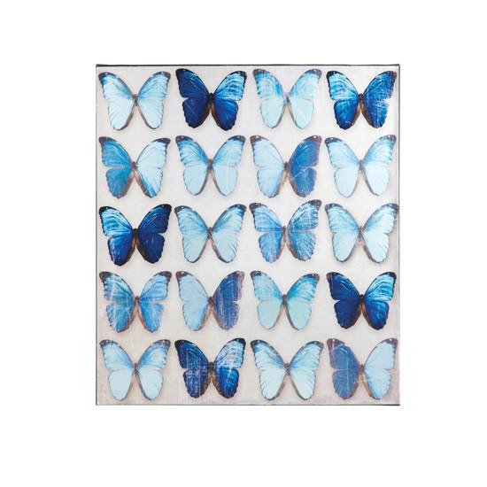 Homebase Wall Art : Metallic butterfly wall canvas by homebase art