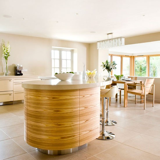 Cream gloss wood kitchen island Beautiful Kitchens Housetohome jpg