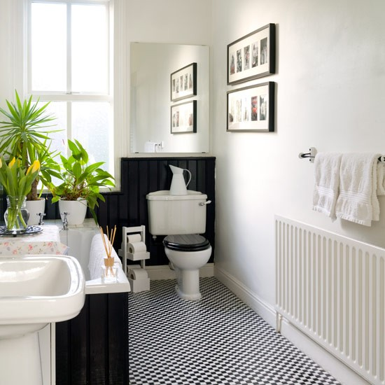 Pick monochrome for a smart look bathroom decorating for Monochromatic bathroom designs