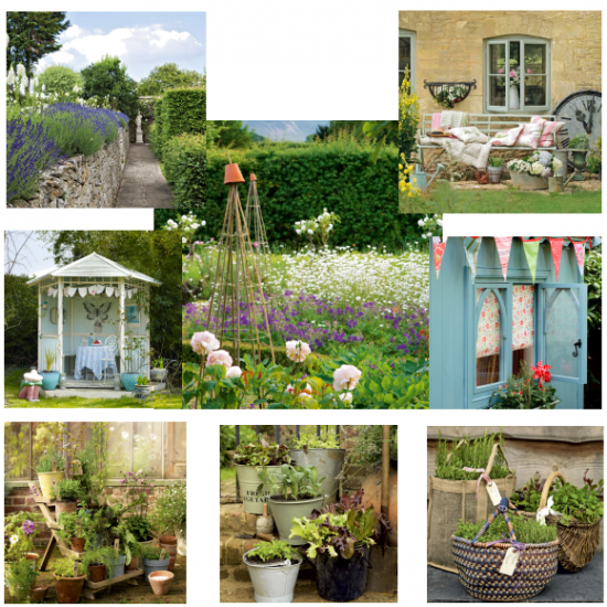 shabby chic cottage garden moodboards. Black Bedroom Furniture Sets. Home Design Ideas