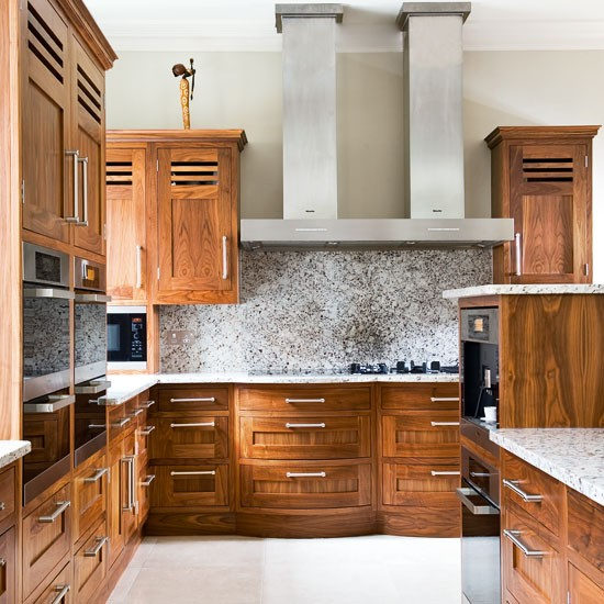 extractor hood be inspired by a striking walnut and