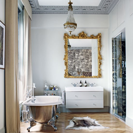 Grey opulent bathroom | Modern decorating ideas | Livingetc | Housetohome