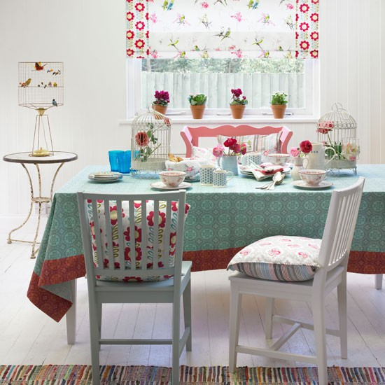 Play with pattern | Dining room | PHOTO GALLERY | Country Homes and Interiors | Housetohome.co.uk