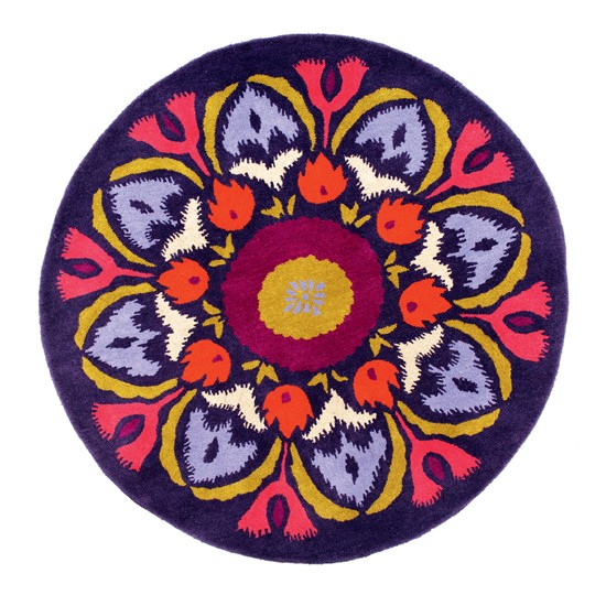 Caravan round rug from Marks & Spencer | Folk trend autumn/winter 2012 | Decorating trends | Housetohome.co.uk