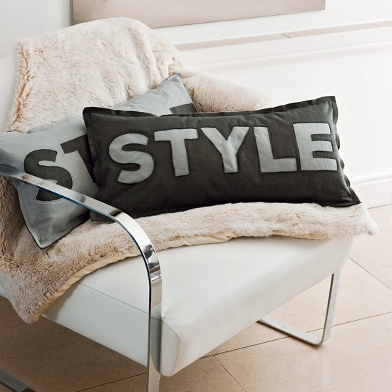 Show off your style with a smart word-design cushion