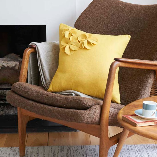 Add a colour hit to your armchair or sofa