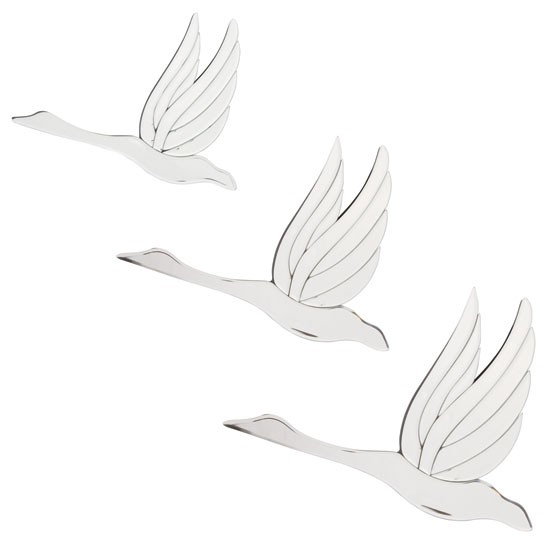 Wall Art Mirror Birds : Set of three mirror birds from laura ashley mirrors