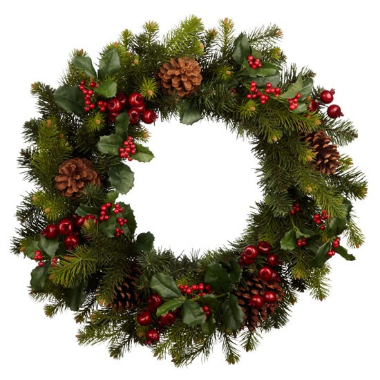 Premium red berry wreath from John Lewis | All rooms | PHOTO GALLERY | Country Homes and Interiors | Housetohome.co.uk