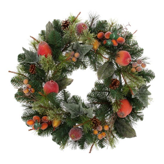 Wreath With Fruit From Tesco