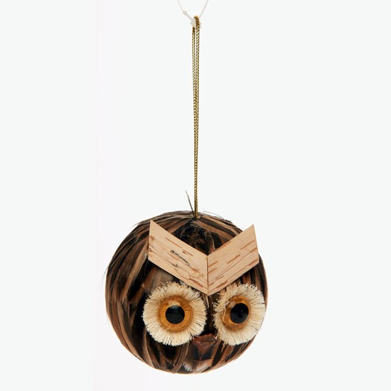 Owl bauble from Wilkinson | bauble | PHOTO GALLERY | Style at Home | housetohome