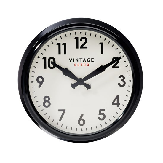Vintage Station wall clock from Marks & Spencer | clock | marks and spencer | PHOTO GALLERY | Style at Home | Housetohome