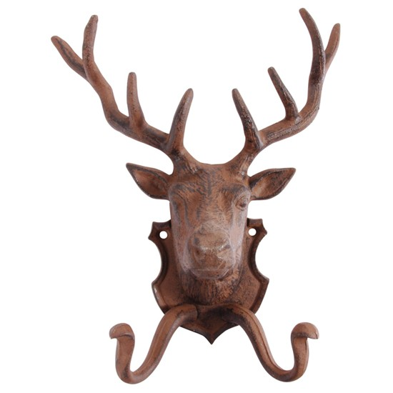 Stag coat hook from Roullier White | Coat hooks - 10 of the best | PHOTO GALLERY | Housetohome.co.uk