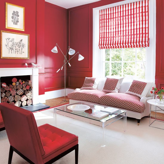 Warm Red Living Room Cosy Design Ideas
