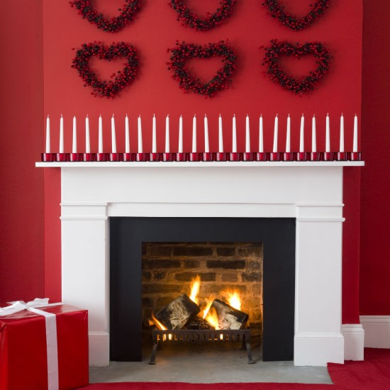 Statement with candles christmas mantelpiece christmas decorating